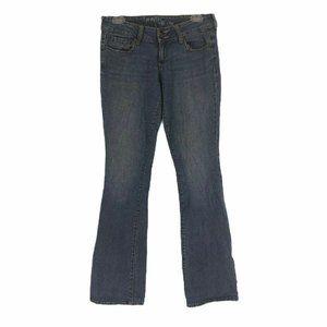 Bullhead Womens Blue Flare Denim Jeans Juniors 7 L
